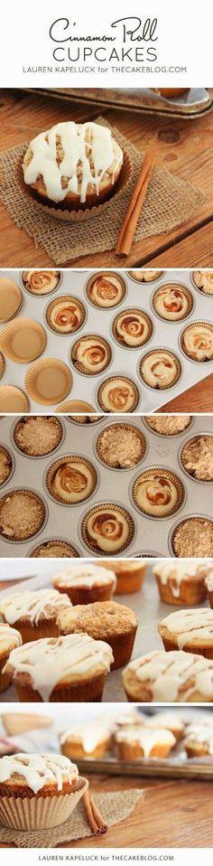 all-food-drink: Cinnamon Roll Cupcakes