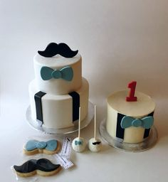 Dash Of Happiness Cakes Little Man Theme With Mustache