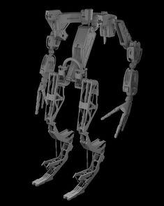 ArtStation - Exoskeleton SHBW-1, Sergio Acevedo Ruiz