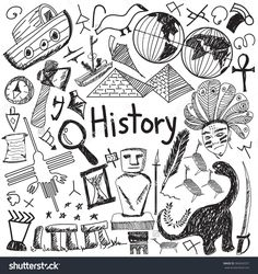 History education subject handwriting doodle icon of landmark location culture s., EDUCATİON, History education subject handwriting doodle icon of landmark location culture sign and symbol white isolated background paper used for presentation t. History Icon, History Education, Art History, Design History, Teaching History, Doodle Drawings, Doodle Art, Doodle Icon, Doodle Sketch