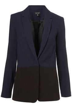Top shop--contrast panel blazer $130.00