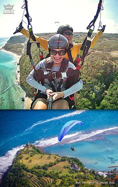Tandem Paragliding in Bali for your adventure holiday. #tandemparagliding #paragliding #baliparagliding #paraglidingbali