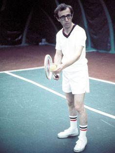Top 10 tennis films: Actor/Director Woody Allen stars in 'Annie Hall' 1977 Woody Allen, Jouer Au Tennis, Mad Movies, Children Of The Revolution, Tennis Photography, Annie Hall, Play Tennis, Tennis Party, Tennis Match