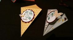 3d shoebox card triangle butterfly