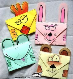 24 Origami Activities For Kids Envelope Origami, Diy Envelope, Projects For Kids, Crafts For Kids, Arts And Crafts, Paper Crafts, Origami Butterfly Easy, Origami Paper, Fun Origami