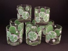 Barware Collection - FRED PRESS - LIME SLICES - ROCKS GLASSES