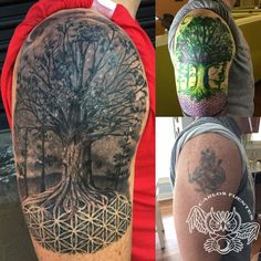 See more at tattoocloud.com http://ift.tt/1QXN4kO Nighttime tree of life and flower of life coverup tattoo by Carlos Fuentes @carlosmfuentesjr Tattooist @mysticowltattoo an Award Winning Tattoo Studio ✨✨ Marietta, Ga. Portfolio at...