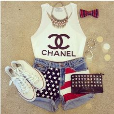 Cute fourth of july outfit :)