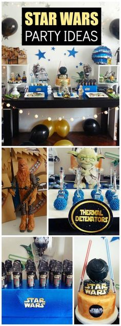 You have to see this amazing Star Wars boy birthday party! See more party ideas at CatchMyParty.com!