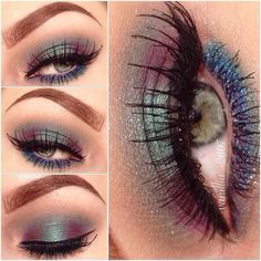 Recreate this look using the following Younique products. Prime entire eye & lower lash line. On lid use Glamorous Mineral pigment.In crease use Irresistable Mineral pigment. In center of lid & in crease use Splurge Cream shadow in Charming. On lower lash line use Awestruck moistened & go over with charming. Line upper lash line with Perfect Liquid Liner. Finish with 3D+ Mascara.
