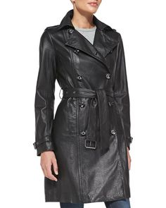 An old school pimpin' trench coat, but in a softer leather.