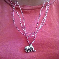 Maxi-collar trenza con colgante elefante