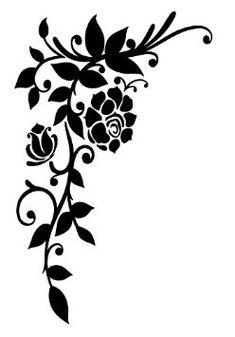 Vintage Style shabby chic Pochoir Rose Flourish d'angle rustique en Mylar A4 297 x 210 mm Meubles mur Art: Amazon.fr: Bricolage