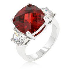 Garnet Triplet Ring