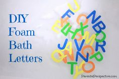 How to make foam bath letters using your Silhouette | Parental Perspective