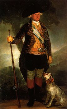 Prince Carlo IV di Borbone (Portici, 11 november 1748 – Roma, 20 january 1819) son of King Carlo III and King of Spain