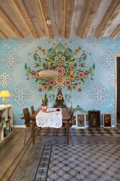 Modern interior design with a painting done rapidly in watercolor on wet plaster on a wall or ceiling is one of the most spectacular, original and rich latest trends that bring the unique vintage style charm of Venetian art into contemporary living spaces. Lushome collection of modern interior desig