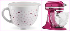 KitchenAid® Raspberry Ice Stand Mixer and pink polka dot bowl GIVEAWAY. #contest #sweeps #sweeptakes #win
