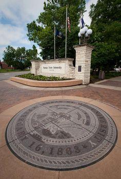 Higinbotham Gate, Kansas State University. Copyright K-State Photo Services.