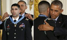 "#DailyMailUK ...... ""Capt Florent Groberg was presented with the military's highest honor by President Obama on Thursday at a ceremony at the White House... Groberg, 32, tackled a suicide bomber to the ground in Afghanistan on August 8, 2012.""....   http://www.dailymail.co.uk/news/article-3315050/Obama-awarding-Medal-Honor-retired-Army-captain.html#ixzz3rJ8yfIGv"