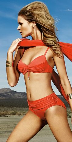 Swimwear / coral bikini bathing suit by Maryan Mehlhorn #2015 l southbeachswimsuits l #swimwear