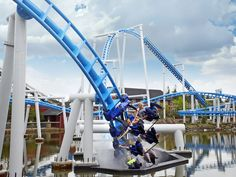 Orkanen (The Hurricane) is the latest ride at Fårup Sommerland. 453 meters long, going through the forrest and into an under water tunnel, The Hurricane reaches 75 km/h. Before I Die, Denmark, Park, Coaster, Building, Destinations, Travel, Drink Coasters, Buildings