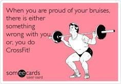 CrossFit: Oh my gosh I totally find myself admiring my bruises sometimes!!