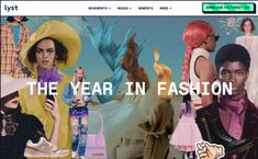 Lyst — The Year in Fashion on siteInspire: a showcase of the best web design inspiration. True Co, Best Web Design, What's Trending, Web Design Inspiration, Zendaya, Coachella, In This Moment, Mood, Screens