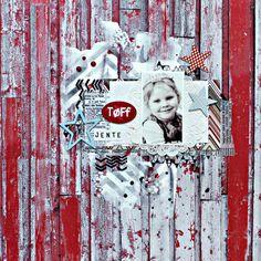Christin aka Umenorskan scrapper: Tough girl - Paper Design