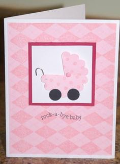 Card Candy Card Cut a scallop circle for buggy Simple baby card