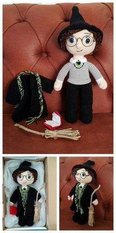 Educational and interesting ideas about amigurumi, crochet tutorials are here. Harry Potter Free, Harry Potter Crochet, Harry Potter Dolls, Crochet Amigurumi Free Patterns, Crochet Doll Pattern, Free Crochet, Double Crochet Decrease, Doll Patterns, Crochet Hooks