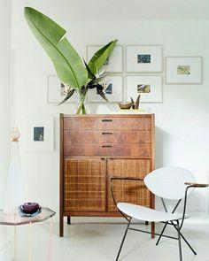 Mid Century Style Wood Dresser Storage Furnishing