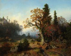 Hans Gude «Skoglandskap» (1855)