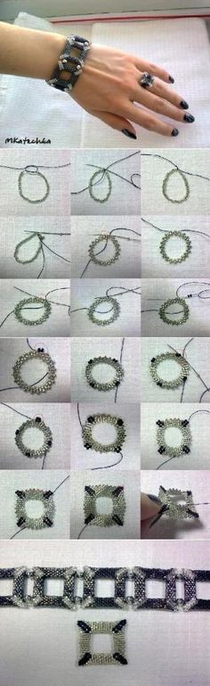 How to make Beads Tile Bracelet step by step DIY tutorial instructions, How to, how to do, diy instructions, crafts, do it yourself, diy web by Mary Smith fSesz