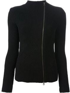 Jil Sander Navy Side Zip Cardigan - Chin's - Farfetch.com