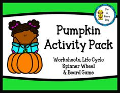 Fun pumpkin themed activities. The pack includes fun worksheets, a pumpkin life cycle spinner wheel, and a race to the pumpkin patch board game. Pages Included: -Make your own pumpkin word search -Pumpkin word search (premade) -Pumpkin ABC order cut and paste -Build words with 'pumpkin patch' -Pumpkin Observation Sheet -How to carve a pumpkin sheet -Pumpkin Life Cycle Spinner