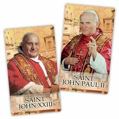 Canonization of Pope St. John XXIII and Pope St. John Paul II on Divine Mercy Sunday April 27, 2014