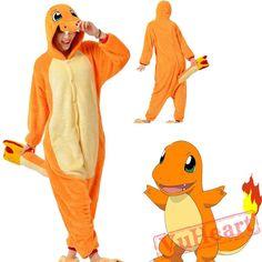 Kigurumi   Pokemon Charmander Kigurumi Onesies - Adult Onesies