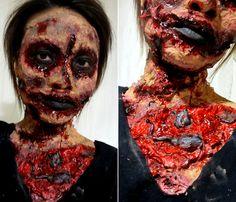 I AM Zombie Scary Makeup Tutorial for Halloween, Helen Helz Nguyen