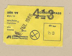Indian Airlines - Boarding Pass