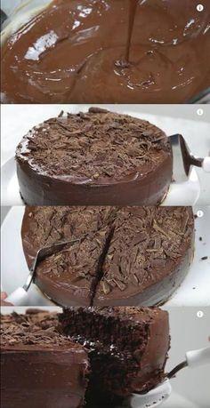 BOLO DE CHOCOLATE PERFEITO E MOLHADINHO #bolo #bolodechocolate #bolomolhadinho #bolosimples
