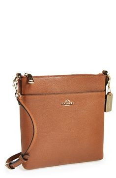 COACH Leather Crossbody Bag available at #Nordstrom-love this in black