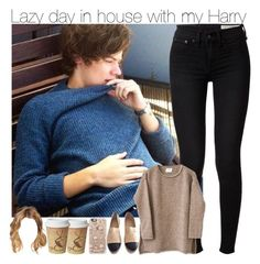 """""""Lazy day in house with my Harry"""" by directioner-fashion-453 ❤ liked on Polyvore featuring rag & bone, Chanel and Casetify"""