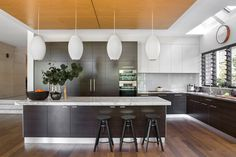 Modern kitchen from Perth home big on sunlight, space and casual style. Photography: Angelita Bonetti | Styling: Anna Flanders | Story: Australian House & Garden