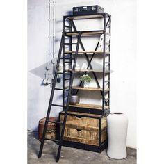 Industriele Boekenkast Ladder Small