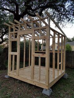 Backyard Fort, Backyard Sheds, Outdoor Sheds, Wood Shed Plans, Shed Building Plans, Studio Shed, Storage Shed Plans, Tiny House Cabin, Diy Shed