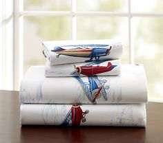Tyson Plane Sheeting. Perfect for Kai's Airplane or transportation themed room...