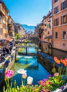 When the light hits the canals of Annecy just right, they gleam startlingly gree. Positano, Amalfi, Annecy France, Destinations, Lake Bled, Jules Verne, Crystal Clear Water, Cool Pools, Travel And Leisure