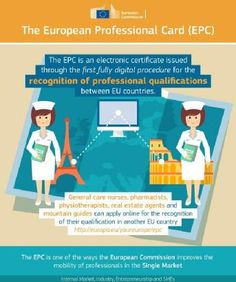 European Professional Card.jpg  A new system is launched to help professionals move countries and have their professional qualifications easily transferred (eg a Portugese nurse who wants to move to Austria).   At the moment the number of professions is very limited, but hopefully this will develop over the next couple of years.