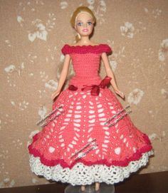 Miss Barbie is getting ready for the holidays ♥LCD♥ with a dress that has a diagram
